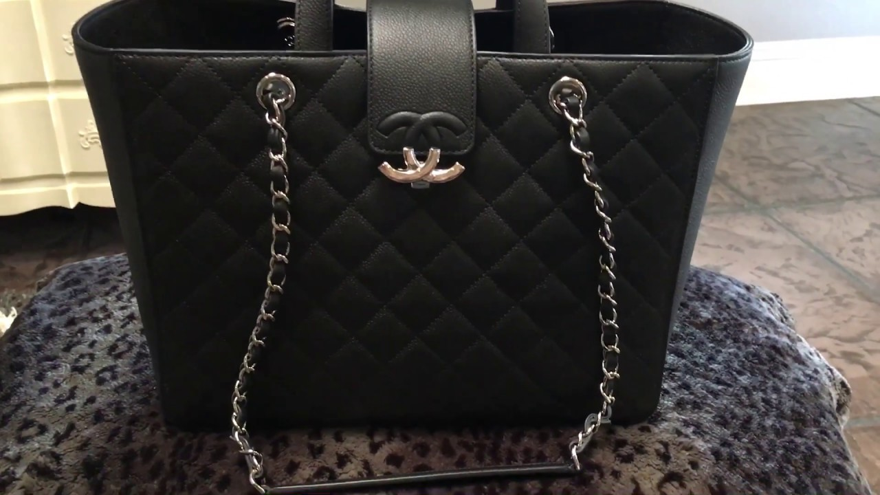 Chanel Large Quotcc Boxquot Shopping Tote Review Youtube