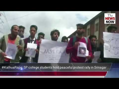 #KathuaRape: SP college students hold peaceful protest rally in Srinagar