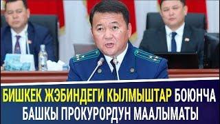 Башкы прокурор Бишкек ЖЭБи боюнча кылмыш иштери тууралуу маалымат берди