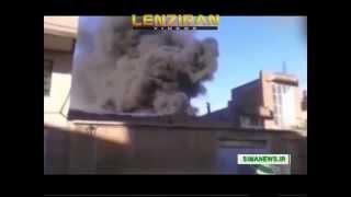 Fire in arrmy depot in the town of Urmia in province of Azarbaijan