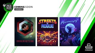 Xbox Game Pass for Console | June 2020 New Games