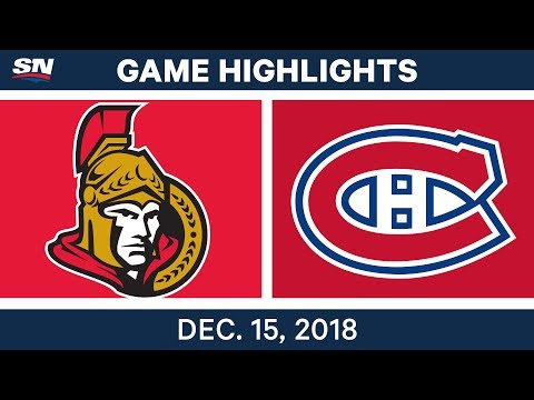 NHL Highlights | Senators vs. Canadiens - Dec 15, 2018