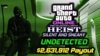 GTA Online Diamond Casino Heist: Silent and Sneaky, Undetected, $2,631,912 Payout Full Heist