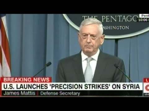 "Defense Secretary ""Maddog"" Mattis Gives Pentagon Press Conference On Syria Attack"
