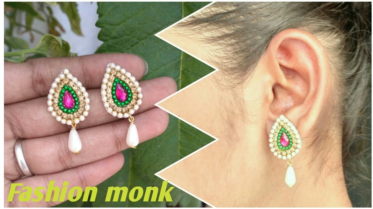 How To Make Simple Earrings in Just 2 Minutes at home | How To ...