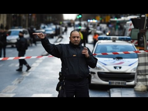 Shooting outside Paris police station
