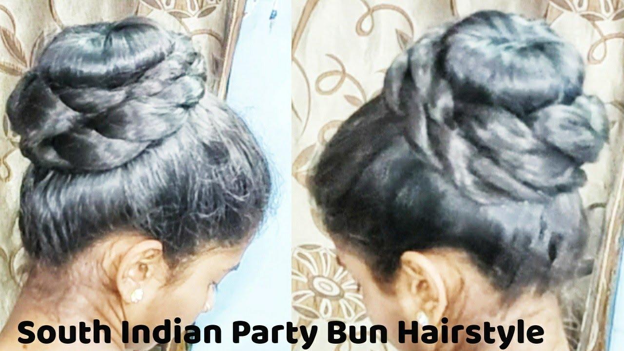 South Indian Bun Hairstyle l Donut Bun l Braided Bun l Juda l Koppu l Easy Bun Hairstyle l Khopa ...