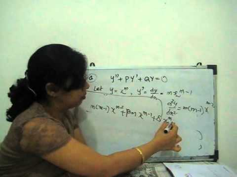 second order linear differential equation with variable coefficients (part 1)