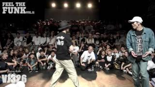 feel the funk vol.11 popping side quarter final KITE vs Jay Gee (팝핀사이드 8강 카이트 vs 제이지)