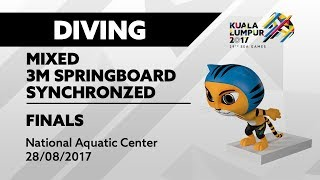 Download Video KL2017 29th SEA Games | Diving - Mixed 3m Springboard Synchro FINALS | 28/08/2017 MP3 3GP MP4
