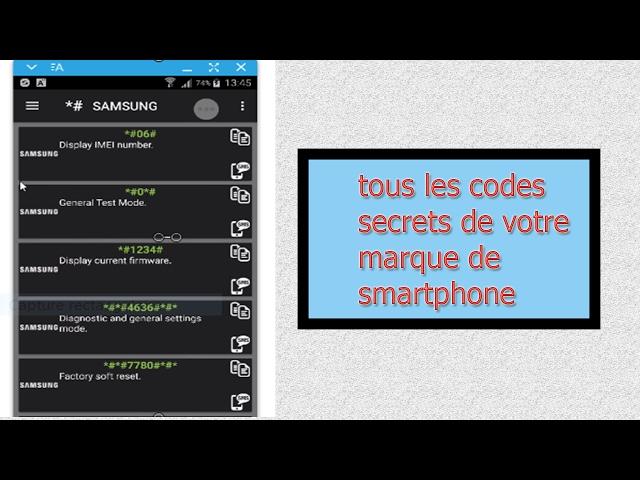 comment découvrir et utiliser  les codes secrets de votre smartphone