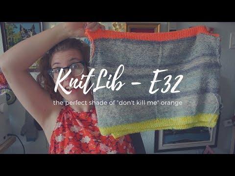 "KNITLIB   E32   The perfect shade of ""Don't Kill Me"" orange"