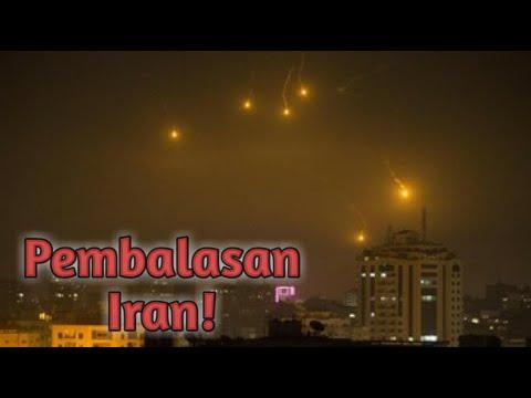 MENGERIKAN!!😫😰Detik -Detik Serangan Balasan Iran Ke Amerika.