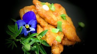 Chinese Crispy Lemon Chicken With Sauce (Chinese Style Cooking Recipe)