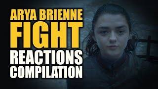 Game of Thrones ARYA BRIENNE FIGHT Reactions Compilation