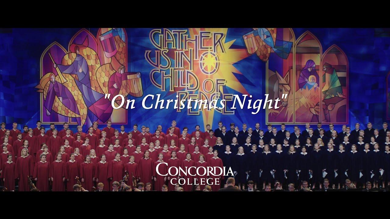 Christmas Concerts.On Christmas Night Concordia Christmas Concerts