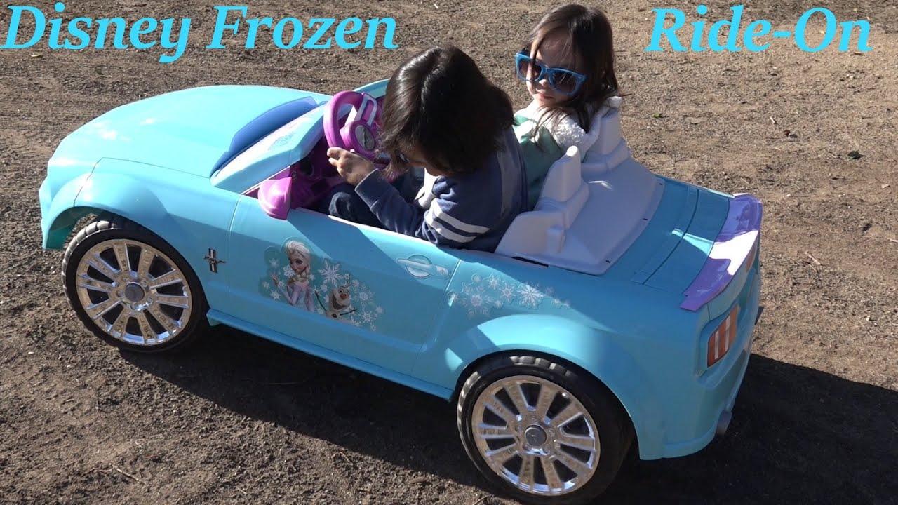 Elsa Anna Driving A Car
