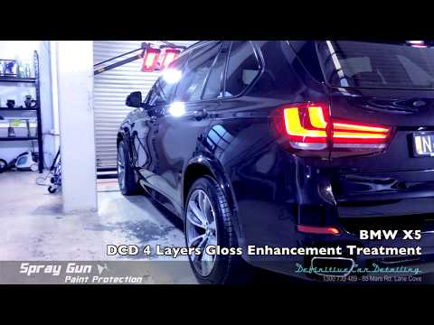 BMW X5 Sapphire Black Definitive Sydney Spray Gun 4 Layers Paint Protection Gloss Enhancement Treatm