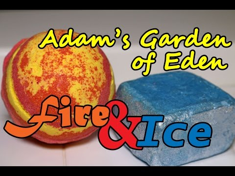 Adam's Garden of Eden - Fire & Ice Bath Bomb Bubble Bar - DEMO - Underwater View - Review