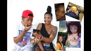 Download BOYFRIEND REACTS TO OLD PHOTOS OF GIRLFRIEND & HER EX Mp3 and Videos