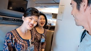 SUPER FRIENDLY Singapore Airlines 777-300 Business