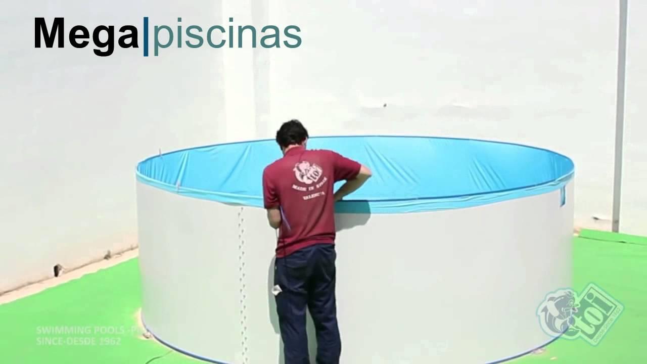 Montaje Piscina Toi Circular Megapiscinas Com Youtube