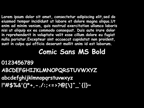 400 Text Fonts With Text Examples
