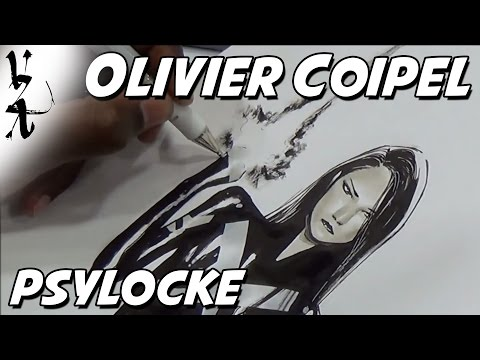 Olivier Coipel drawing Psylocke