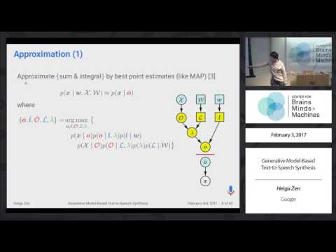 Generative Model-Based Text-to-Speech Synthesis