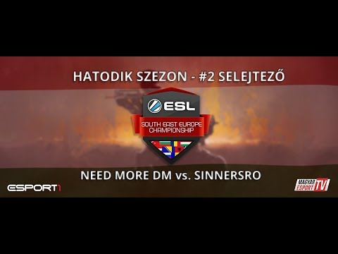 ESL SEC Season VI. CS:GO Qualifier #2 - NDM vs. SiNNerSRO (BO3 - második pálya - cobble)