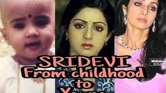 Sridevi Childhood Photos to Young 54 Years 54 Images