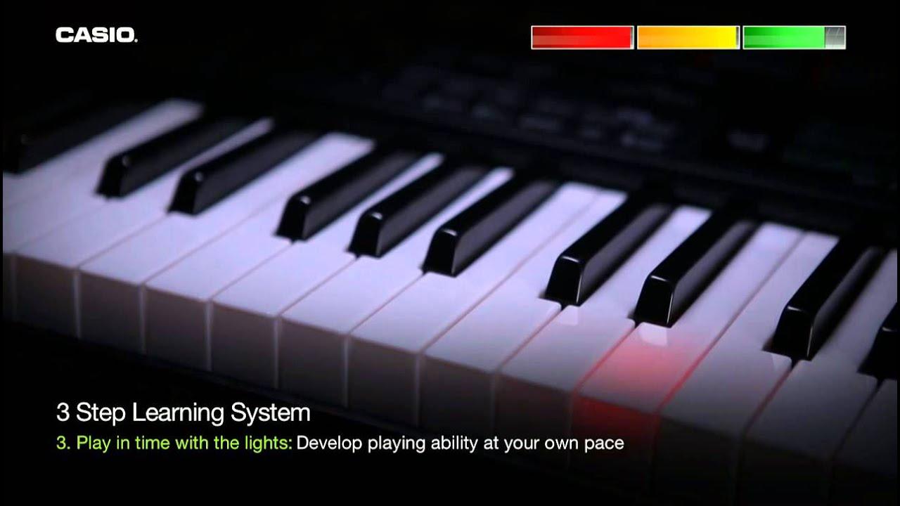 casio lk 160 key lighting keyboard youtube