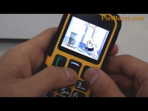 Waterproof Senior Citizen Rugged Cell Phone (Quad Band, Dual SIM, Bluetooth, SOS)