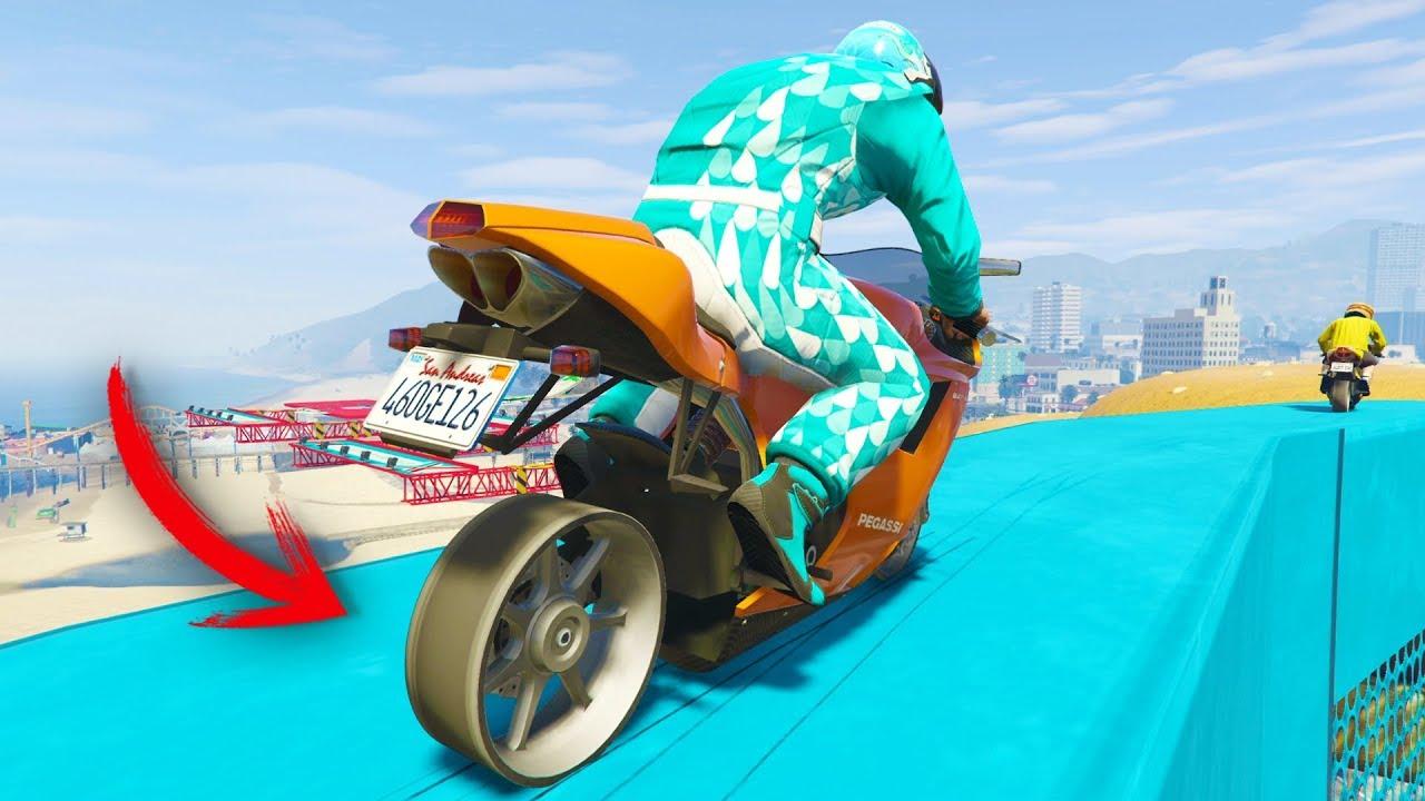 RUEDA PINCHADA 99% IMPOSIBLE! - CARRERA GTA V ONLINE - GTA 5 ONLINE