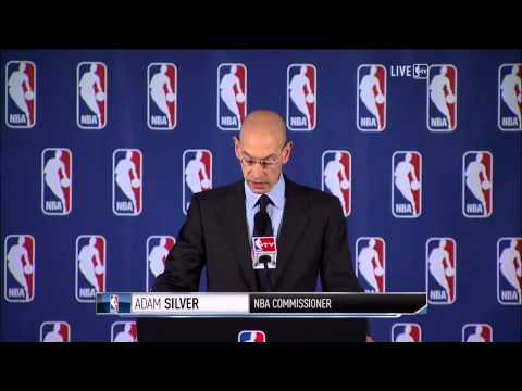 NBA commissioner Adam Silver gives Donald Sterling a lifetime ban, $2 5 Million fine HD