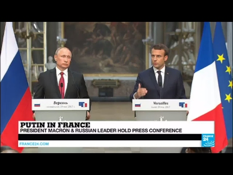 "Macron in Versailles: ""We can work together on Syria"""