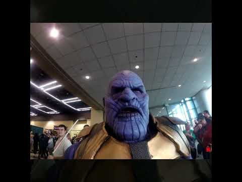 Thanos' Severed head of Iron Man Cam from ECCC - YouTube