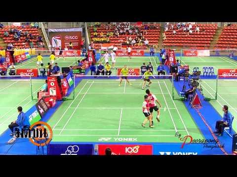 แบตมินตัน SCG world junior championships คู่ผสม LOGO มติชน TV 26 10 56 น้องอลิส  รอบเช้า )