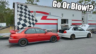 homepage tile video photo for Subaru Gets New Wheels and First Track Day! Will it Go or Blow!?