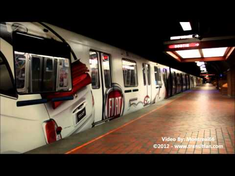 Montreal Metro: FIAT wrapped Subway at Snowdon [HD]
