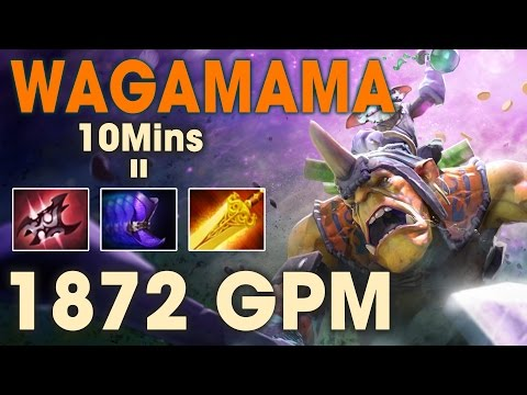 Dota 2 - OMG Wagamama Alche ft Shadow Demon - 1872 GPM Farm Machines