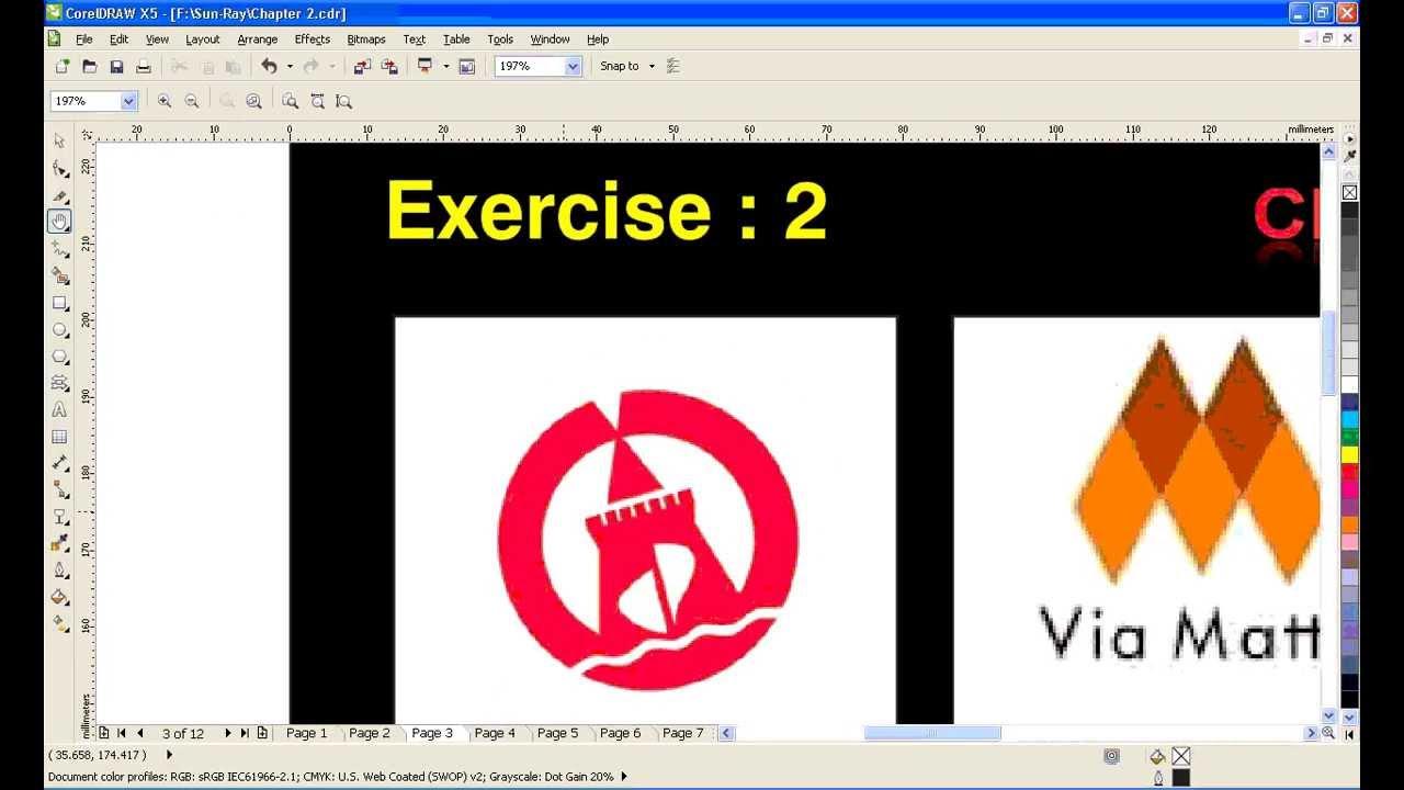 CorelDraw Logo drawing tutorial technics Training full free video ...
