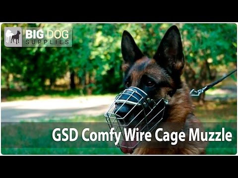"""One-Strap"" Wire Cage Dog Muzzle for German Shepherds"