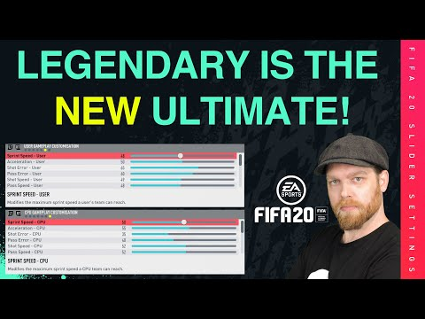 LEGENDARY IS THE NEW ULTIMATE DIFFICULTY! - Fifa 20 Career Mode Slider Setup
