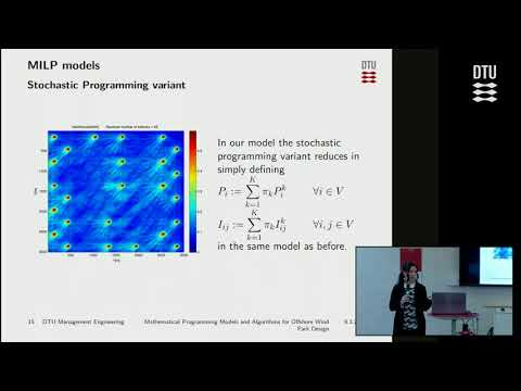 Mathematical programming models and Algorithms for Offshore Wind Park Design - PhD defense Part 1