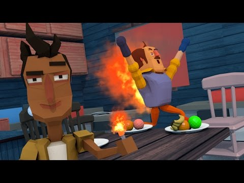 Minecraft | Hello Neighbor - HE SET ME ON FIRE! (Minecraft Hello Neighbor)