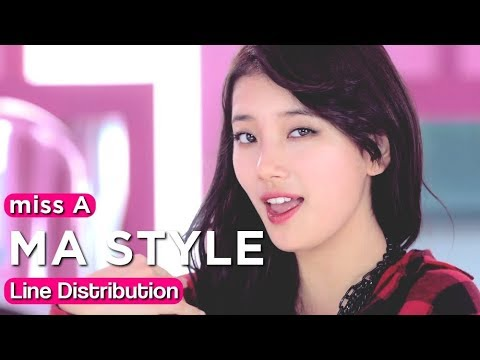 miss A 「MA STYLE」 Line Distribution | Color Coded Bars mp3