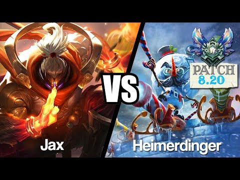 Vidéo d'Alderiate : [FR] JAX VS HEIMERDINGER - LE HEAL BUGUE - 8.20 - DIAMANT 1