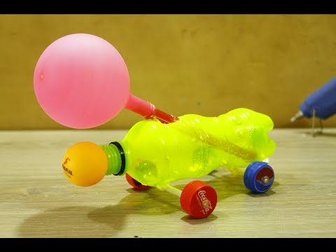 Make Powerful AirCraft Car With Balloon - diy car for kids