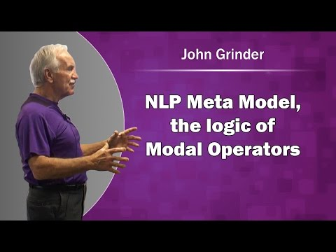 John Grinder & NLP Meta Model, the logic of Modal Operators